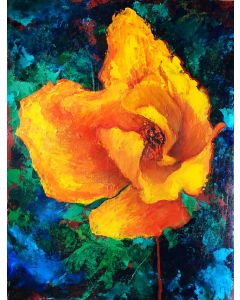 Yellow Poppy Floral Painting