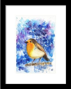 Robin bird The lonely Robin Watercolour painting