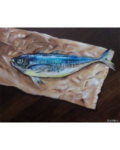 Mackerel on paper bag