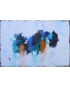 XXXL Abstract Blue Essence III 120 X 80cm Textured Abstract Painting
