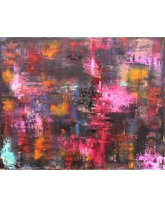 Pink Chorus 50 x 40cm Abstract Oil Painting