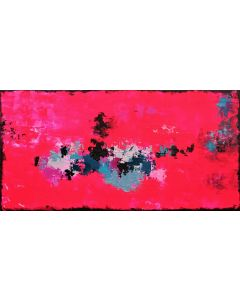 Abstract Passion In Pink 80 X 40cm Textured Abstract Painting