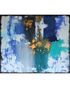 Large Abstract Asleep in the Clouds 60 x 50 cms Textured Painting