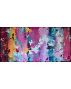 XXL Dreams and Wishes 120 x 60cm Textured Abstract Painting
