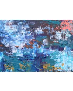 Abstract Crystal Cave 59 x 42 cm Textured Abstract Painting