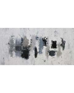 XXXL Silver Strand Falls 160 x 80cm Textured Abstract Painting