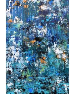 Abstract Liquid Reflections 76 x 51cm Textured Abstract Painting