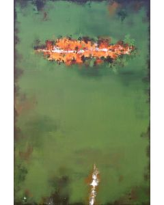 XXXL Green Echoes VIII 150 x 100cm (59 x 39 inch) Abstract Painting