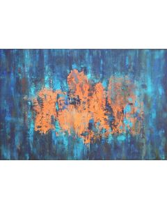 XXXL A Walk In The Rain 120 X 80cm Textured Abstract Painting