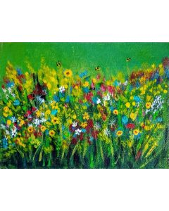 Meadow of summer flowers Acrylic Floral Gift liGHt painting- 6