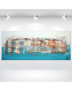 Milchstrasse - Acrylic abstract Painting on Canvas, heavy structured artwork