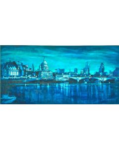 St Pauls Cathedral in Indigo Blue London Cityscape