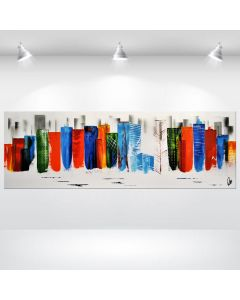 Colourfull New York - Abstract CIty Painting on Canvas, ready to hang