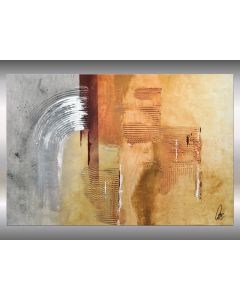 Niebla - Deep structured acrylic painting on canvas, abstract art