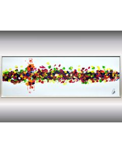 No Black - Framed Abstract Painting, Acrylic Canvas Wall Art