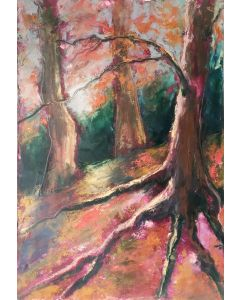 Ancient Woodland Landscape Drawing
