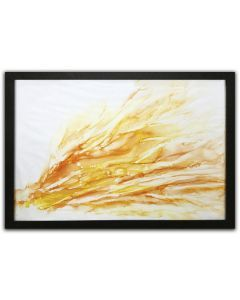 orange ochre abstract painting