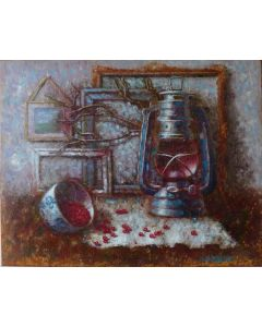 ''Still life with old lamp''