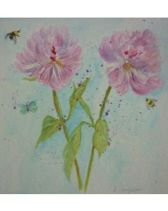Flowers, Bees and Butterfly