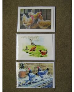 A set of three greetings cards