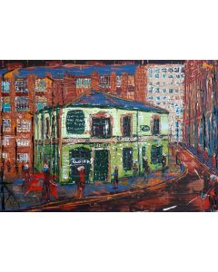 Peveril of the peak pub Manchester lockdown by night