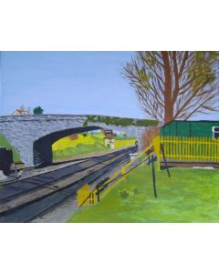 Railway line in  Swanage.