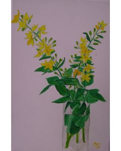 Two sprigs of yellow flowers.