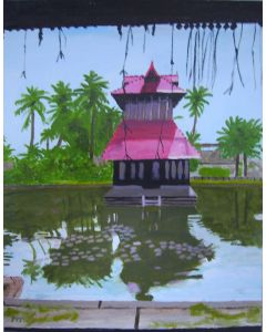 Temple  on the lake.