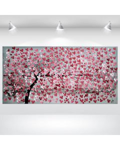 Red Cherries - Acrylic Painting on Canvas, Ready to Hang