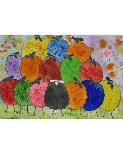 Quirky Colourful Sheep