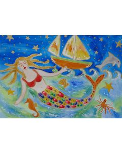 The Colourful Mermaid and the Ship Wreck