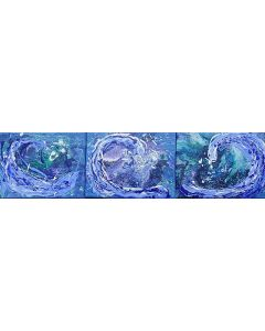 Tryptic Abstract Waves