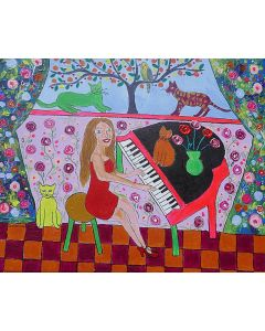 The Beautiful Pianist and her quirky Cats