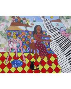 The African Pianist and her cats