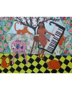 The African Pianist and her Orange Cats