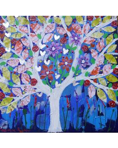 Colourful Singing Tree in a Blue Sky