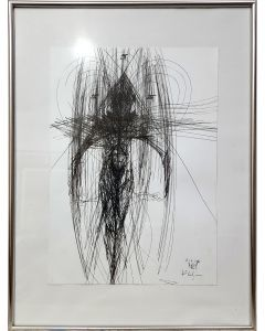 Unique way to draw angel compositions signals metaphysical art by O KLOSKA