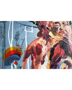 Save NHS Abstract Expressionism Nude Portrait 664