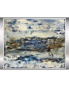 Secret Landscape- Framed Abstract Painting on Canvas, Abstract Landscape