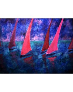 SEVEN SAILS IN THE SUNSET
