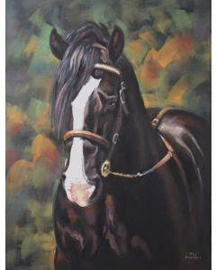 Welsh Cob Stallion Pastel Painting