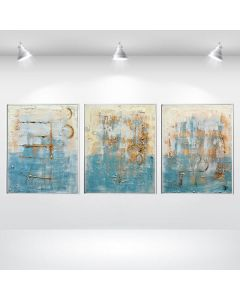 Silent Moments - Abstract Acrylic Paintings, Framed Canvas Wall Art