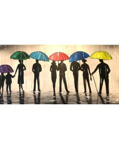 Silhouettes And Umbrellas 3