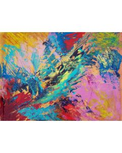 Singing all day long - XXL colorful abstract