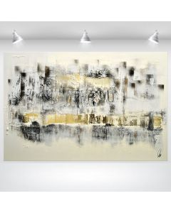 Metropolis - Large Abstract Art on Canvas - Statement Painting- Industrial Style