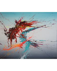 Threesome (Spirits Of Skies 120117) - 120 x 100 cm - XXL (48 x 40 inches)