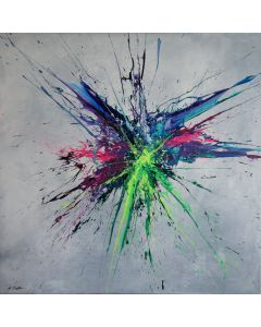 Luminous Bursts VII (Spirits Of Skies 100123) (100 x 100 cm) XXL (40 x 40 inches)