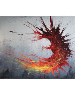 Twisting Fire III (Spirits Of Skies 120127) (120 x 100 cm) XXL (48 x 40 inches)