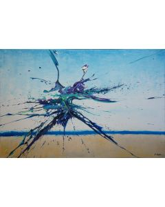 Artist's Beach IV (Spirits Of Skies 096131) (120 x 80 cm) XXL (48 x 32 inches)