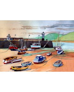St Ives Harbour and Smeaton's Quay, Cornwall. Sea, Beach & Boats.